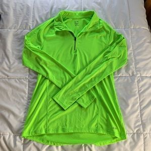 Champion Neon Green Long Sleeve Workout Top